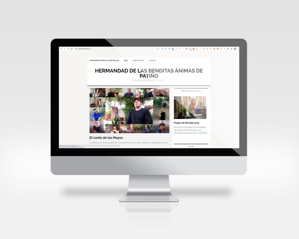 imagen de la página web de la cuadrilla de patiño